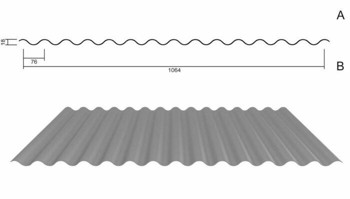 Wellbleche für Dach und Wand in unterschiedlichen Ausführungen und Farben