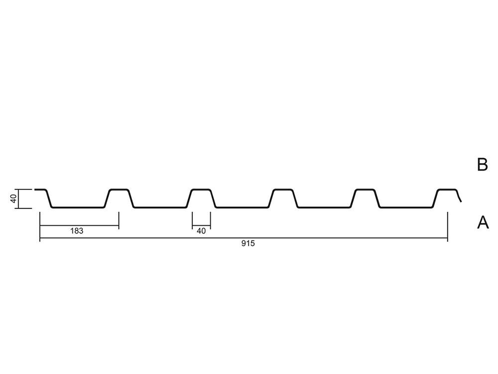 Profil 40x183 Querschnitt - MABO-Bauelemente, Ottenhöfen Furschenbach